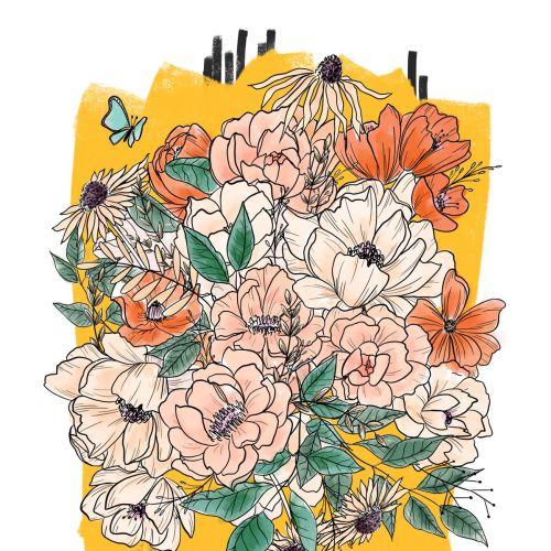 Peggy Dean Illustrateur floral, lettrage et fantaisiste. NOUS