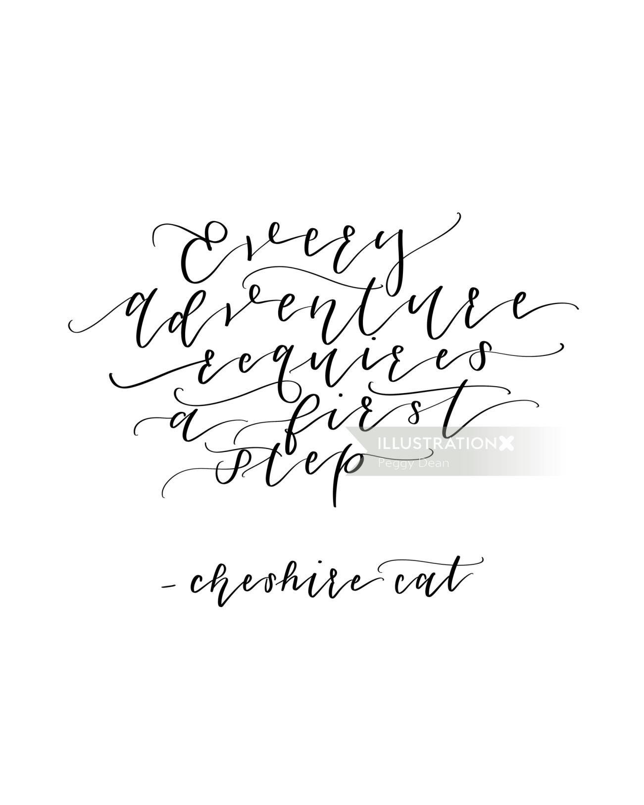 Every adventure requires a first step