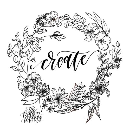 Create lettering by Peggy Dean