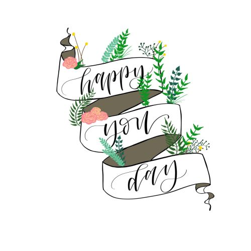 Lettering art of happy you day