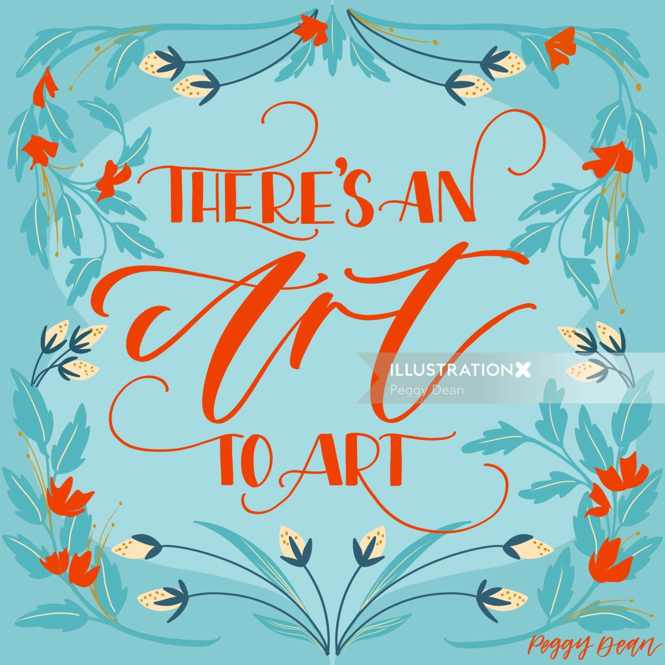 Calligraphy art of there's an art to art