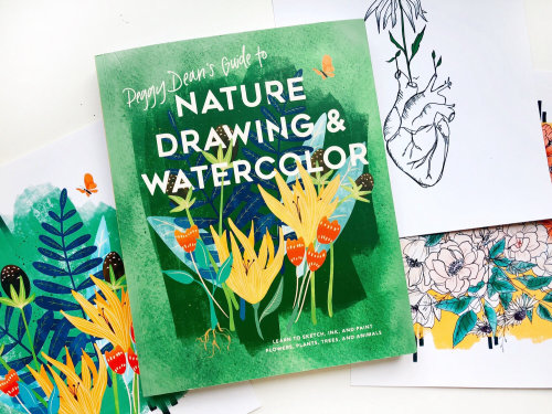 Book Cover Nature Drawing & Watercolor