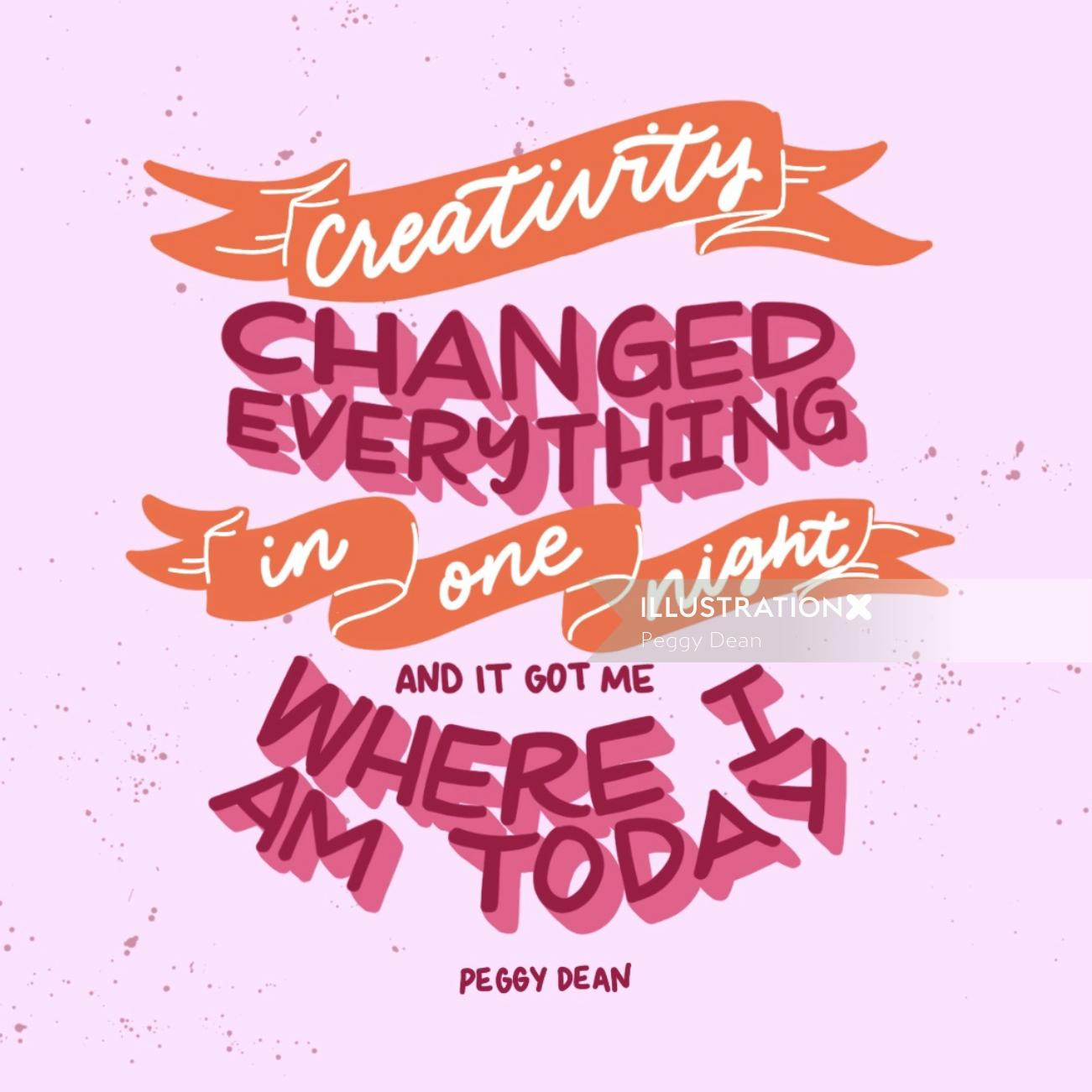 Lettering Creativity changed everything