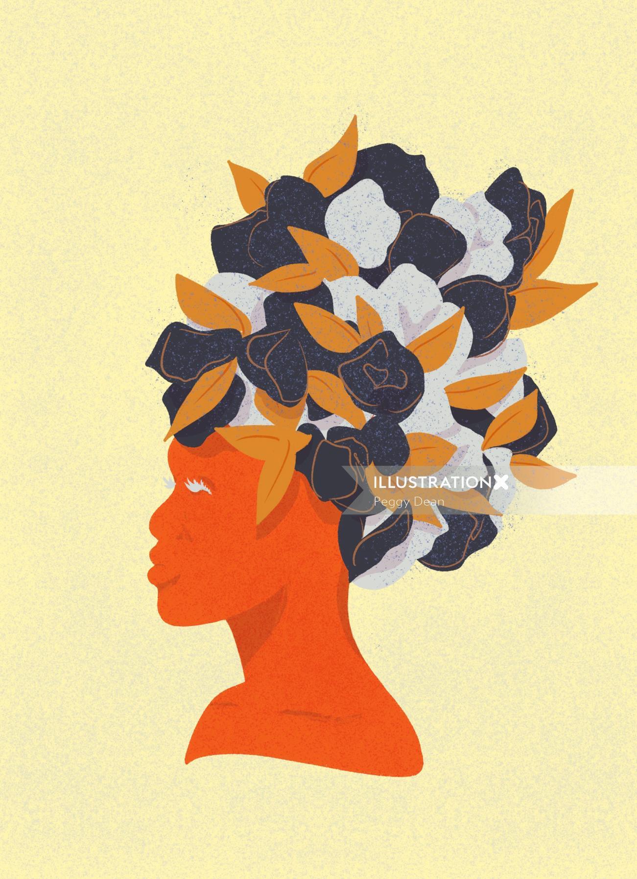 Graphic women hair style