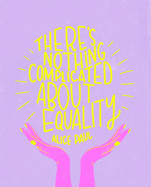 Lettering theres nothing compllicated about equality