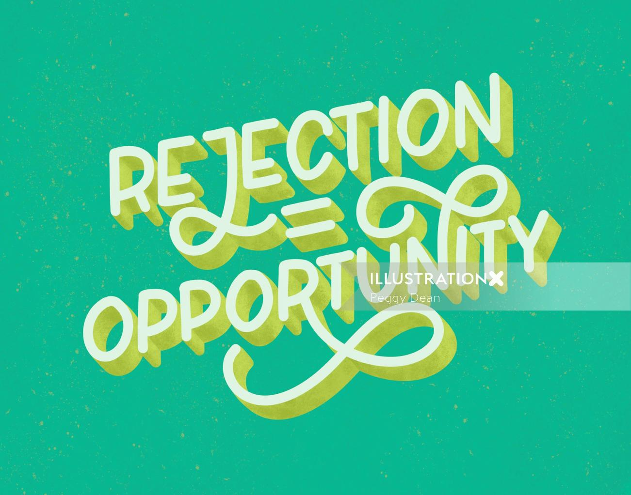 Lettering Rejection Opportunity