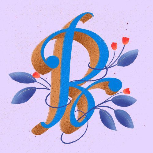 Nature alphabet lettering