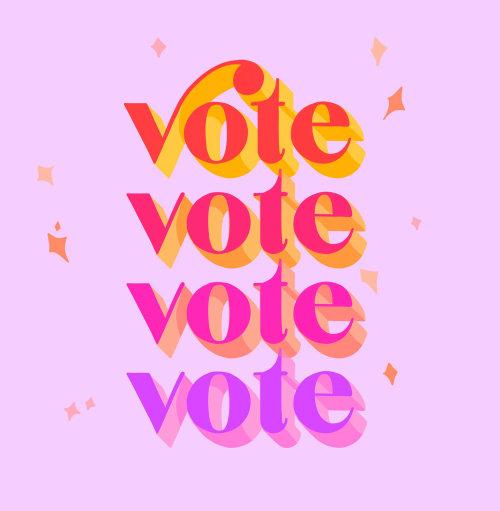 Graphic Lettering Vote