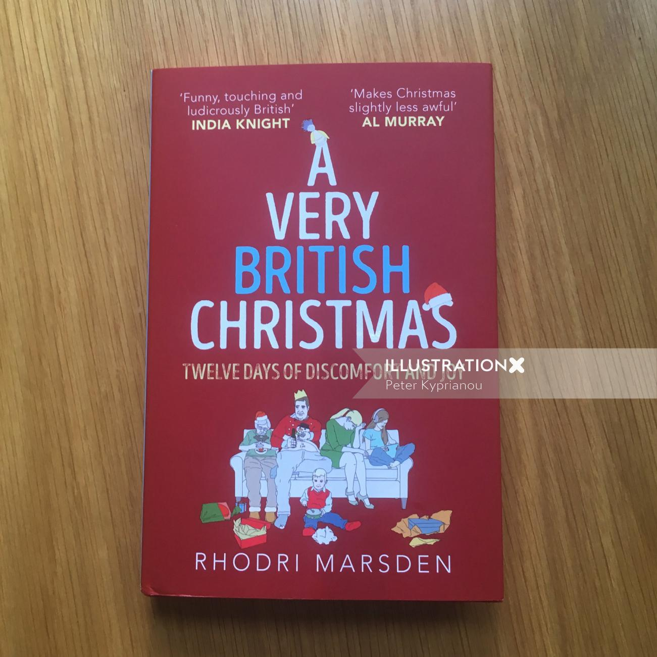 Book cover design of very British Christmas