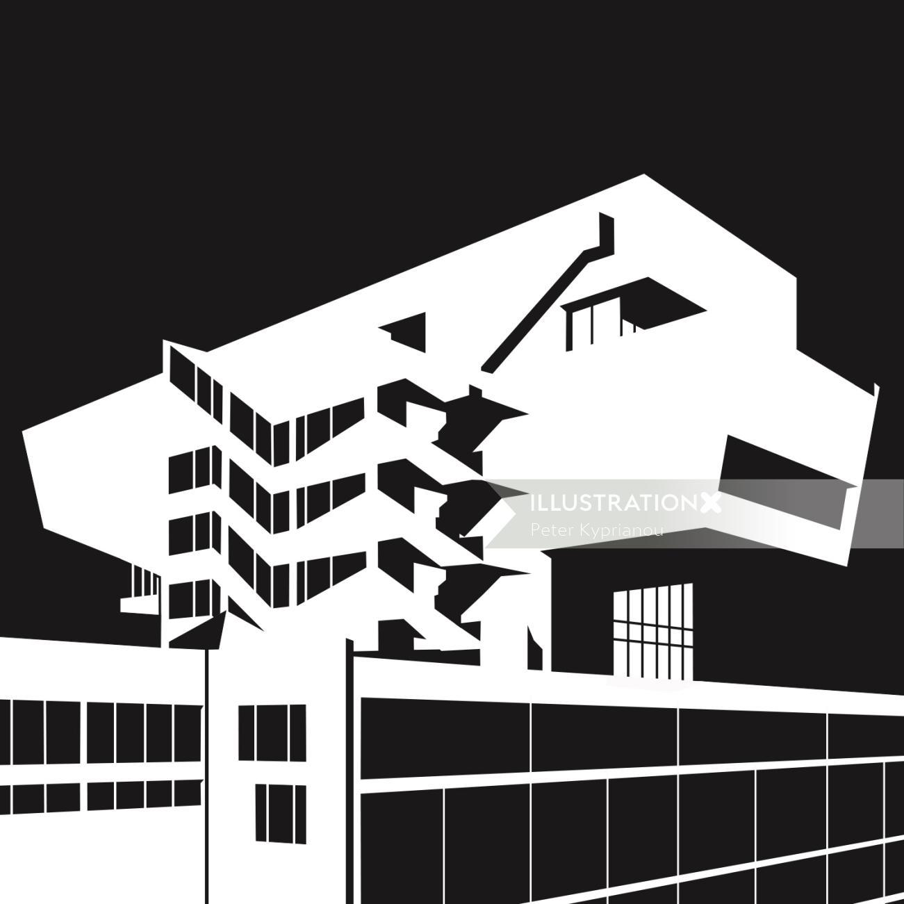 Black & white Building architecture
