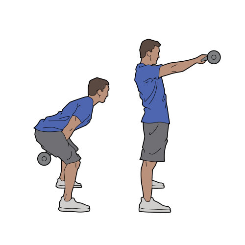 Dumb bells workout for busy man
