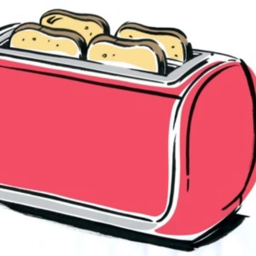 Beautiful Pink colored Toaster