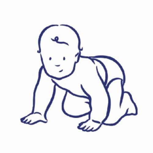 Crawling baby lineart