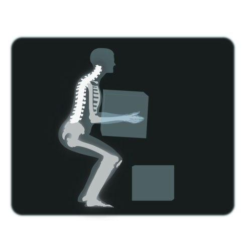 Man lifting boxe in xray