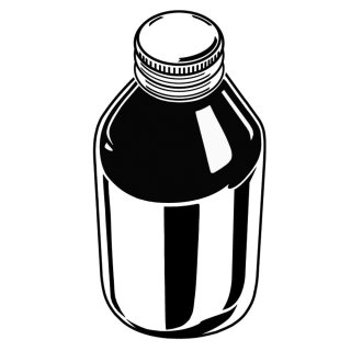 Medicine bottle illustration by Peter Kyprianou