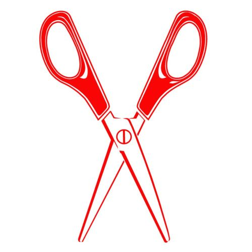 Red color scissors