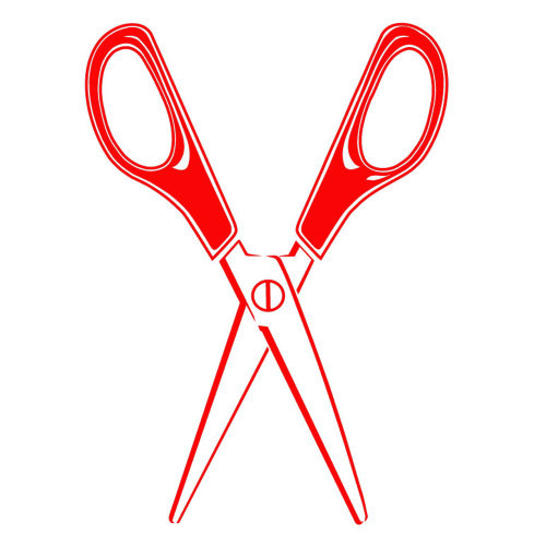 Red color scissors