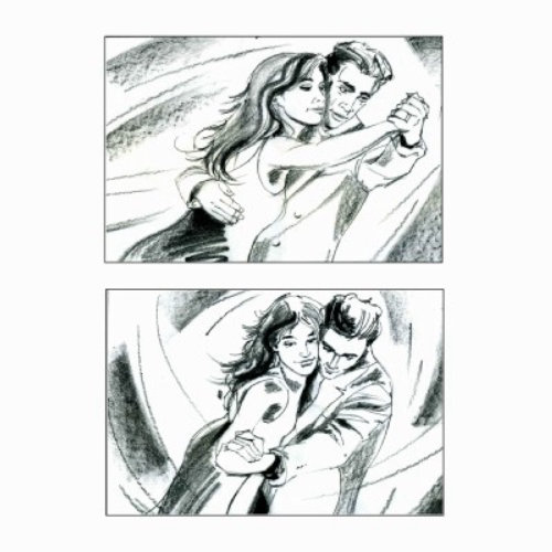 Storyboard of couple dancing