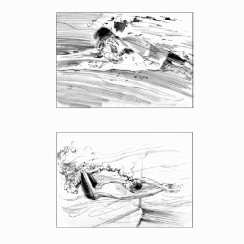 Swimmer backstroke pencil art