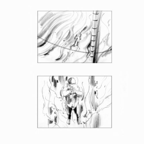 pencil art of a standing man