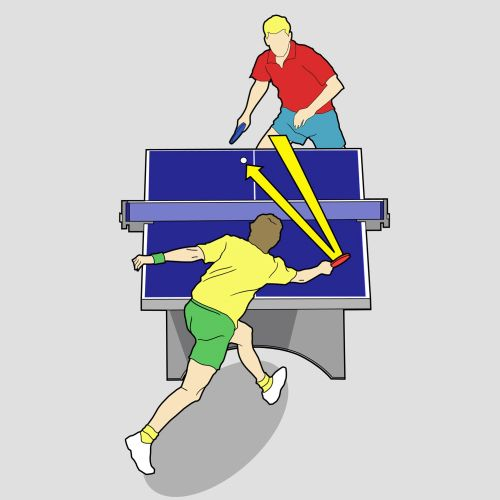 Vector illustration of table tennis