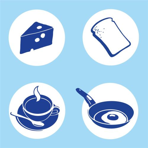 Pictogram of different foods