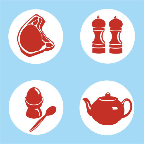 Food icons illustration by Peter Kyprianou