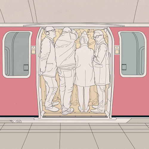 Vector illustration of metro train