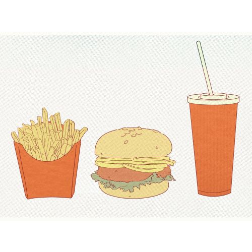 Vector art of french fries