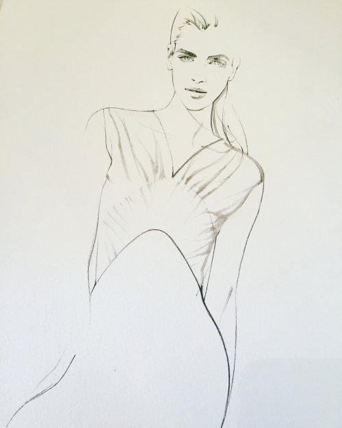 Illustration de la ligne du modèle femme