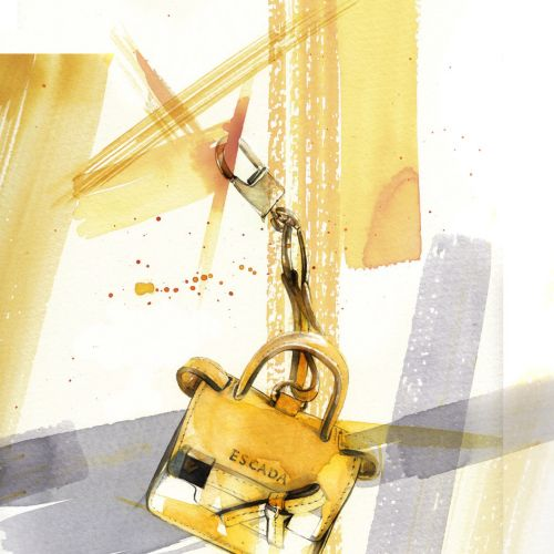 Lock watercolor illustration