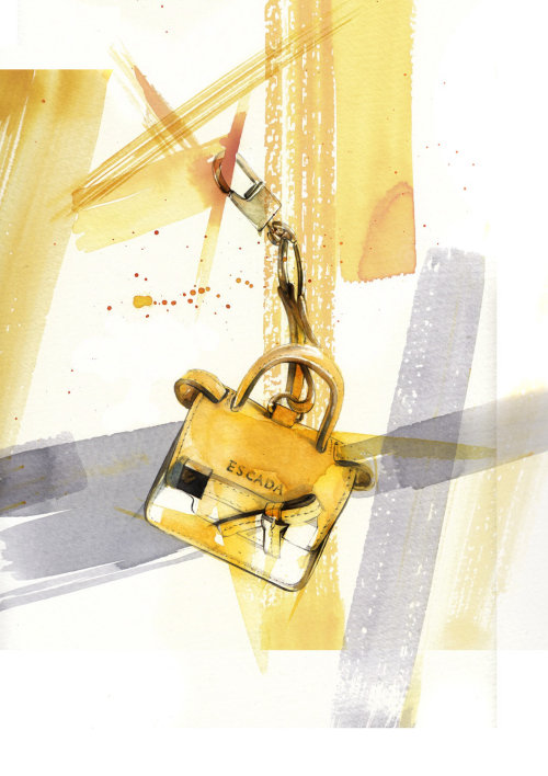 Lock watercolor illustration