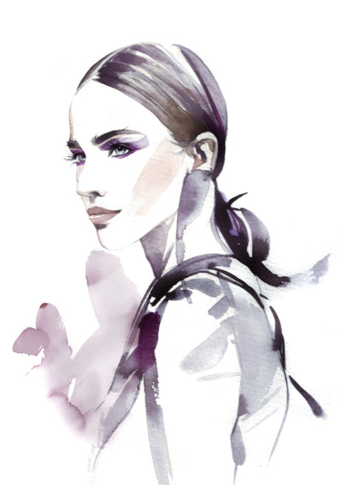 illustration aquarelle d'une femme