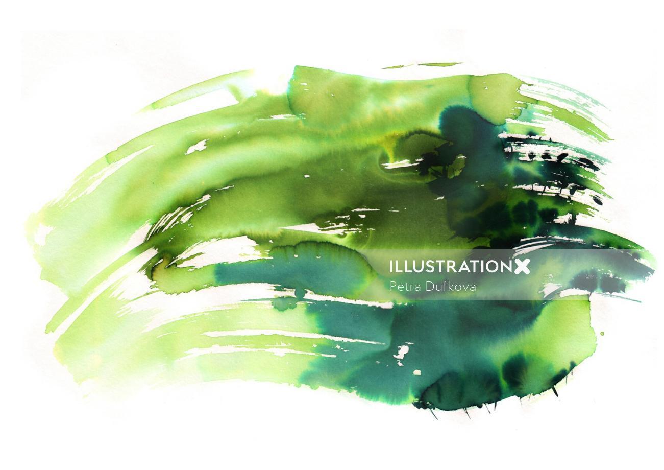 watercolor nature illustration