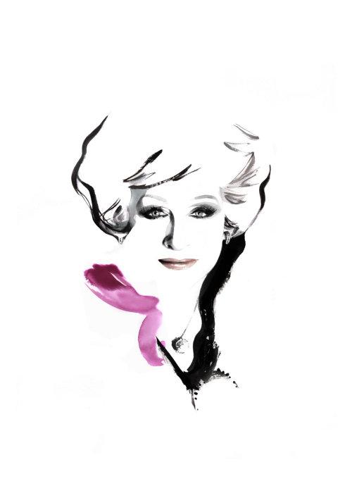 illustration aquarelle du modèle femme