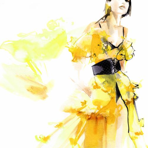 Petra Dufkova International Fashion & Beauty illustrator. Munich