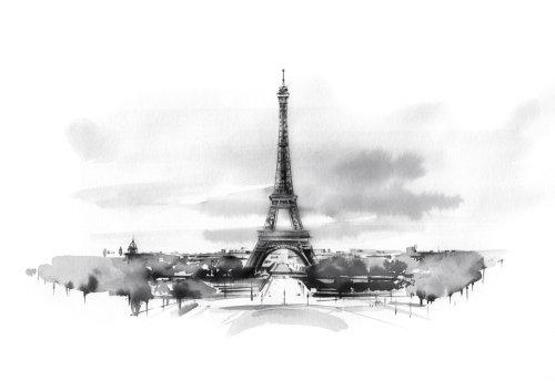watercolor art of paris