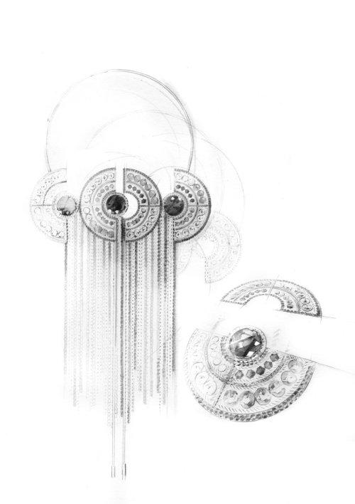 Line art of jewellery