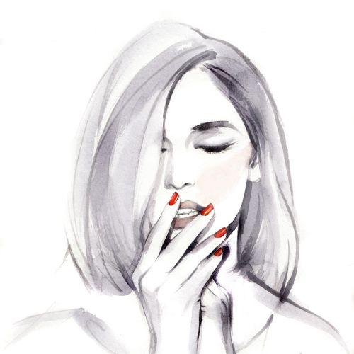 Petra Dufkova International Fashion & Beauty illustrator. Munich