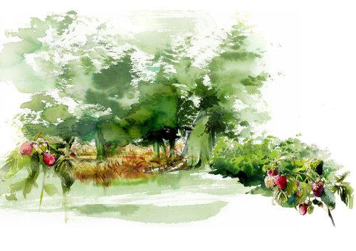 watercolour of scenery