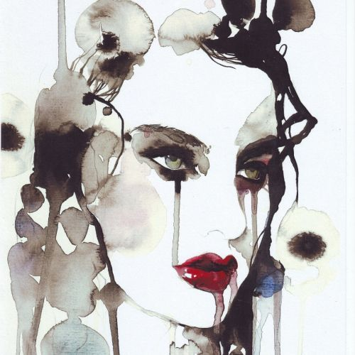 fashion beauty with red lips