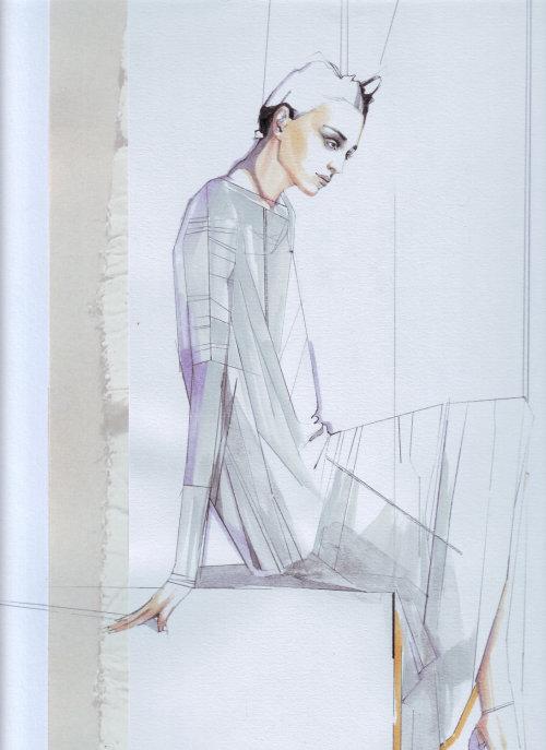 illustration aquarelle du modèle féminin
