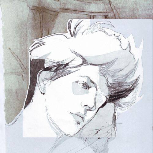watercolor illustration of male model