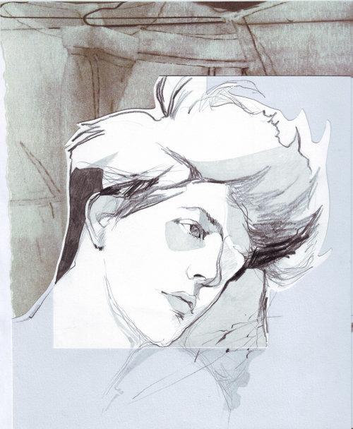illustration aquarelle du modèle masculin