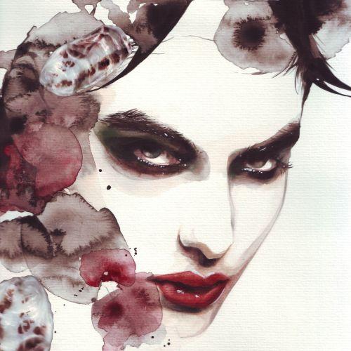 Fashion illustration of a beautiful face