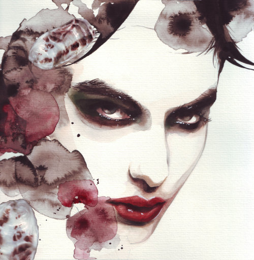 Fashion illustration of a beautiful face