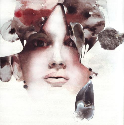 Illustration de visage de femme de beauté