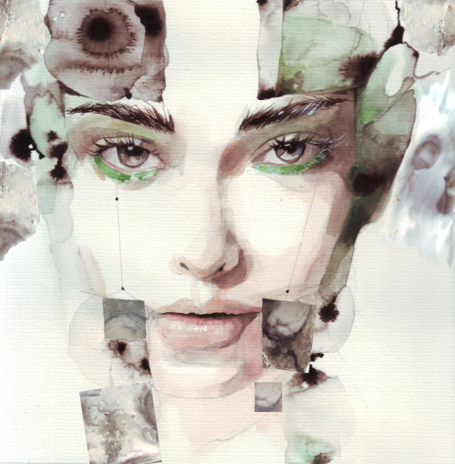 Illustration de la beauté du visage de la femme
