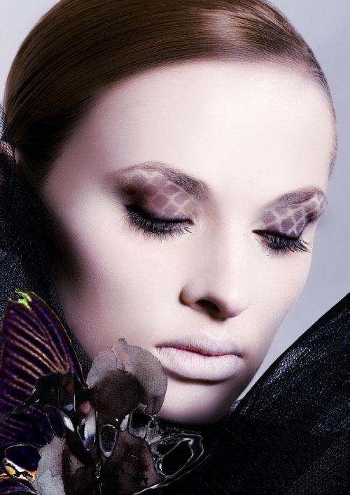 Visage de maquillage de beauté