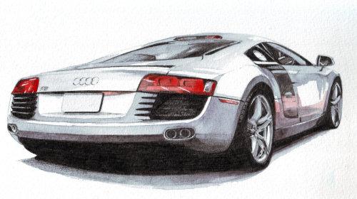 Illustration technique d'une voiture Audi